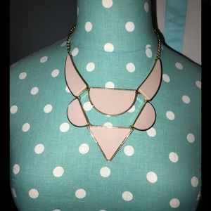 Light pink and gold necklace
